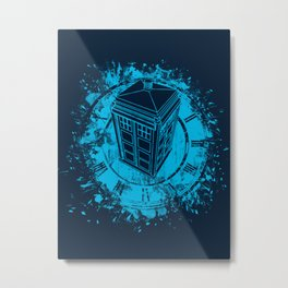 Tardis lost in space and time Metal Print
