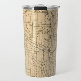 Vintage Map of Alabama (1866) Travel Mug