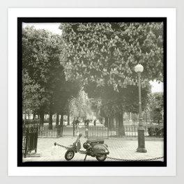 Paris Moped Art Print
