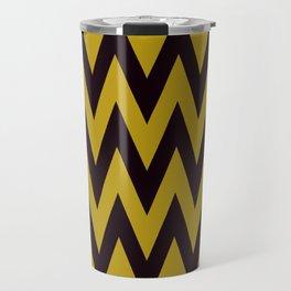 Team Spirit Black and Gold Travel Mug