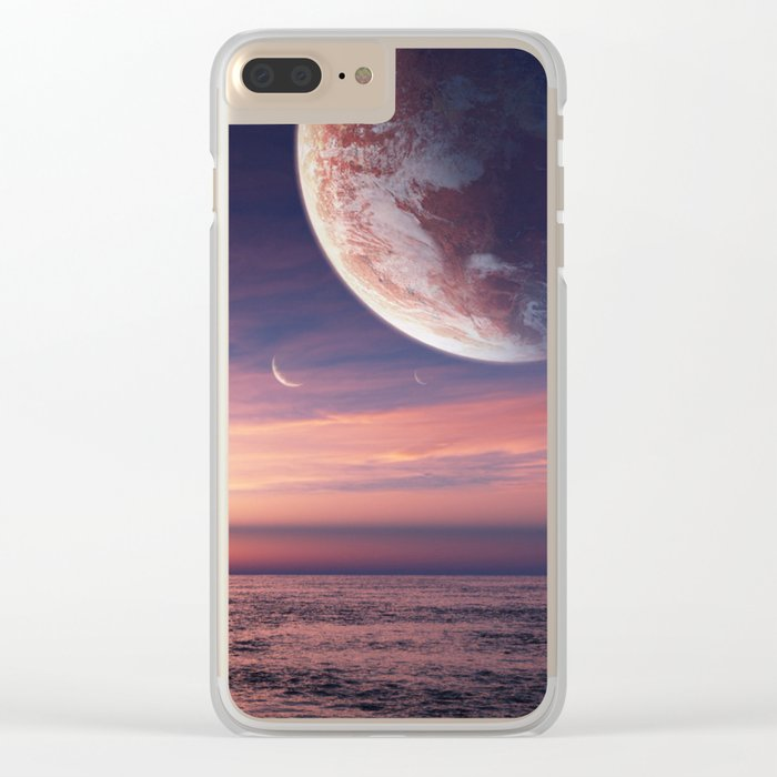 Ocean pastel Clear iPhone Case