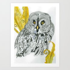 Twilight Guardian Harry Potter Owl Art Print