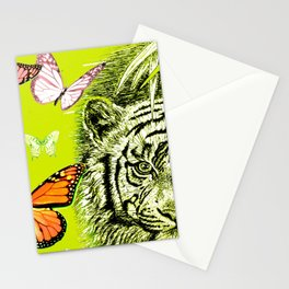 Tiger and Butterflies Stationery Cards