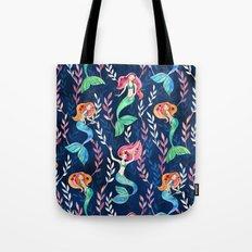 Merry Mermaids in Watercolor Tote Bag