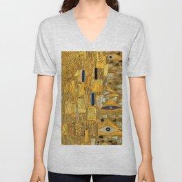 All the World is Gold symbolist portrait painting by Gustav Klimt Unisex V-Neck