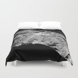 Los Angeles map Duvet Cover