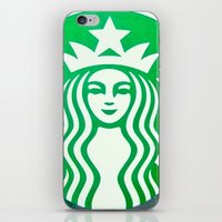 starbucks iPhone & iPod Skins featuring STARBUCKS by Marco ☁ Gasperi