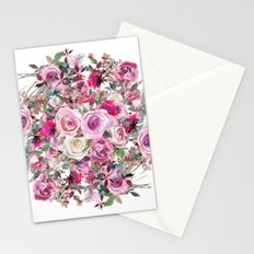 Bouquet of flowers - wreath Stationery Cards