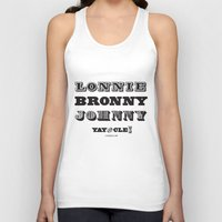 lebron Tank Tops featuring Lonnie, Bronny, Johnny by Melissa Olson