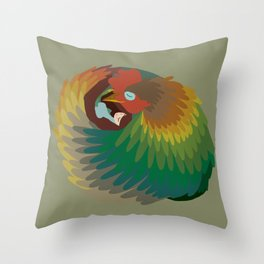 Chicken Dream Throw Pillow