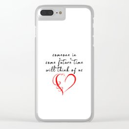 Sapphic - poem Clear iPhone Case