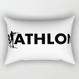 Biathlon Rectangular Pillow