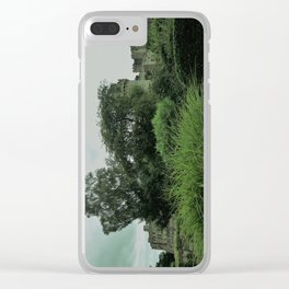 Warwick Castle Bathed in Green Light Clear iPhone Case