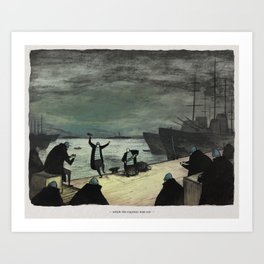 World At War - 'While The Captain Was Out' Art Print