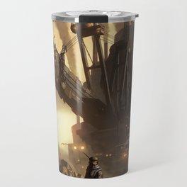 Steampunk Abstract Painting Travel Mug
