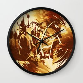 Afrikanische Krieger Wall Clock