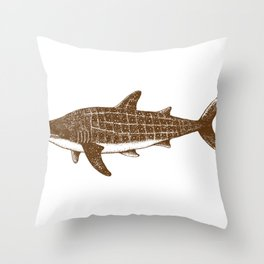 Shark Drawing Spotted Shark Art Shark Shirt Shark Gift Throw Pillow