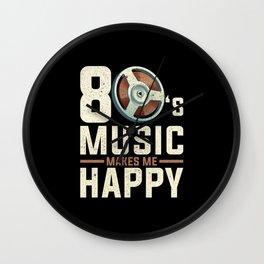 80s 80s Music Wall Clock