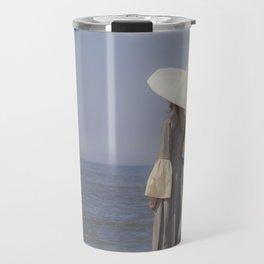 White Parasol Travel Mug