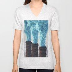 Blue Pollution Unisex V-Neck