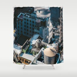 New York sky view Shower Curtain