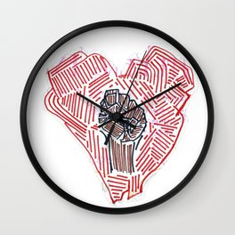 Untitled (Heart Fist) Wall Clock