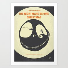 No712 My The Nightmare Before Christmas minimal movie poster Art Print