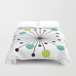 Atomic Age Nuclear Motif — Mid Century Modern Duvet Cover