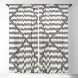 Chisel In Black & White Sheer Curtain