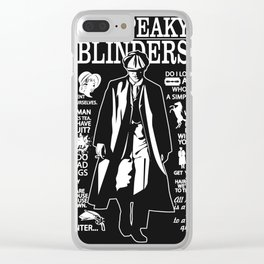 Peaky Quotes Clear iPhone Case