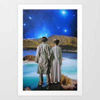 twins Art Prints featuring Twins by John Turck