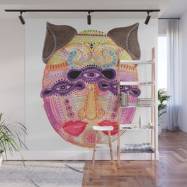 watch my lips mask Wall Mural