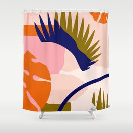 Tropical island II Shower Curtain