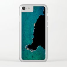 no title cyan Clear iPhone Case