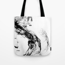 MONOCHROME MARBLE / INDIAN INK IN WATER Tote Bag