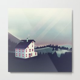 Castle in the Mountains Metal Print