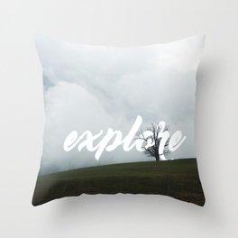 Explore // #TravelSeries Throw Pillow