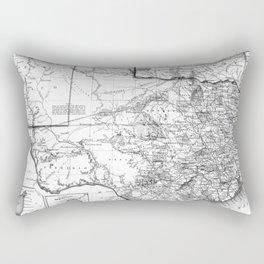 Vintage Map of Texas (1856) BW Rectangular Pillow