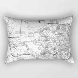 Vintage Map of Texas (1856) BW Rectangular Pillow