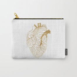 Heart Branches - Gold Carry-All Pouch