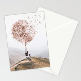 Flying Dandelion Stationery Cards