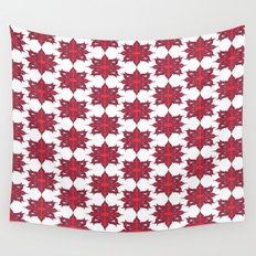 Flowery Red Wall Tapestry