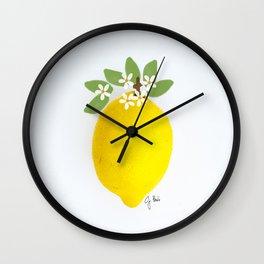 Illustrated Lemon Wall Clock