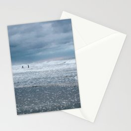 Cloudy Beach Morning Stationery Cards