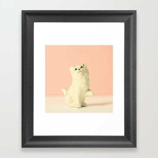 Vintage Kitten Framed Art Print