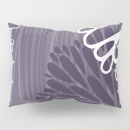 Abstract Floral in Purple by Friztin Pillow Sham