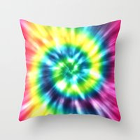 tie dye Throw Pillows featuring Tie Dye by Patterns of Life