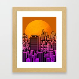 Cityscape collage 01B Framed Art Print