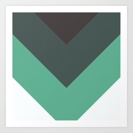 Sage Chevron Stripes Art Print