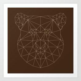 Poly-Bear Art Print